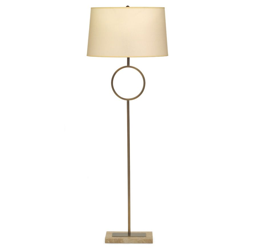 Marco floor lamp aged brass parchment shade available online and