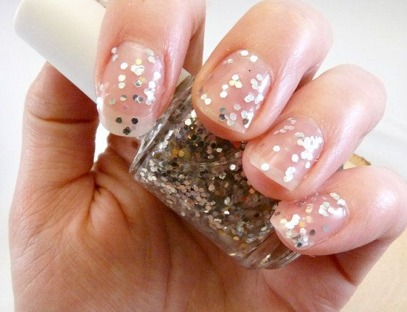 Crystal Clear Layering Glitter Nail Polish  by TheMarulaTreeSoapCo