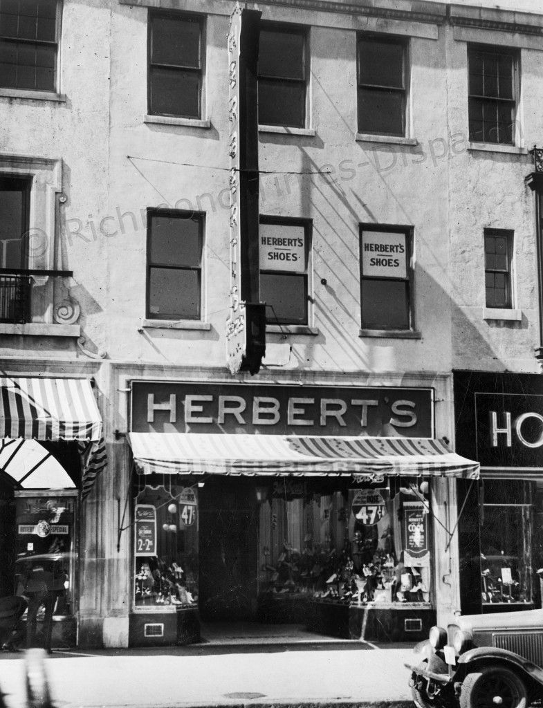 This May 1935 image shows Herbert s shoe store at 419 E