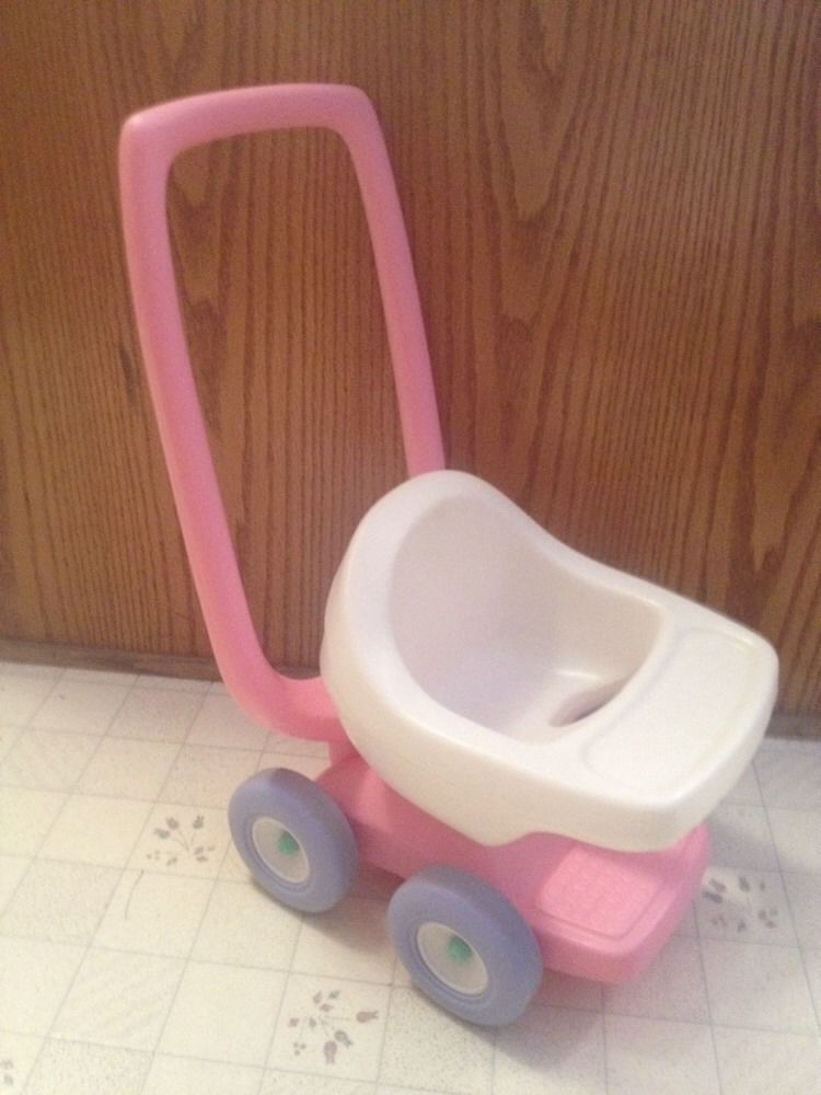 Vintage Child's Size Little Tikes Pink & White Plastic Baby Doll ...