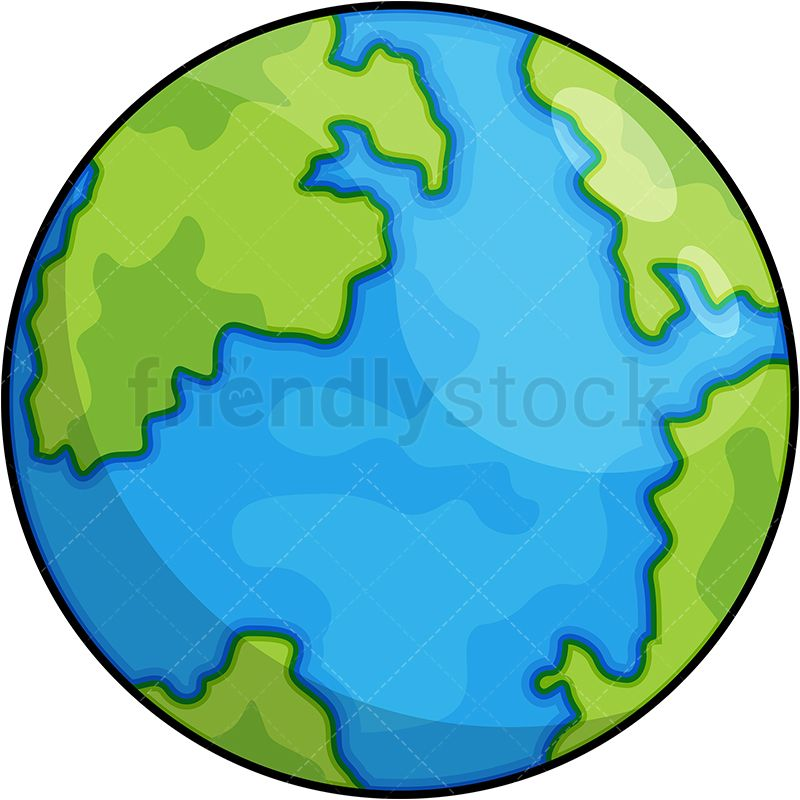 Planet Earth Cartoon Vector Clipart Friendlystock Earth Drawings Cartoons Png Cartoons Vector