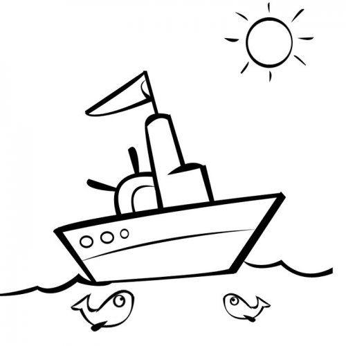 Desenho de um pequeno barco para pintar | Coisas giras | Pinterest ...
