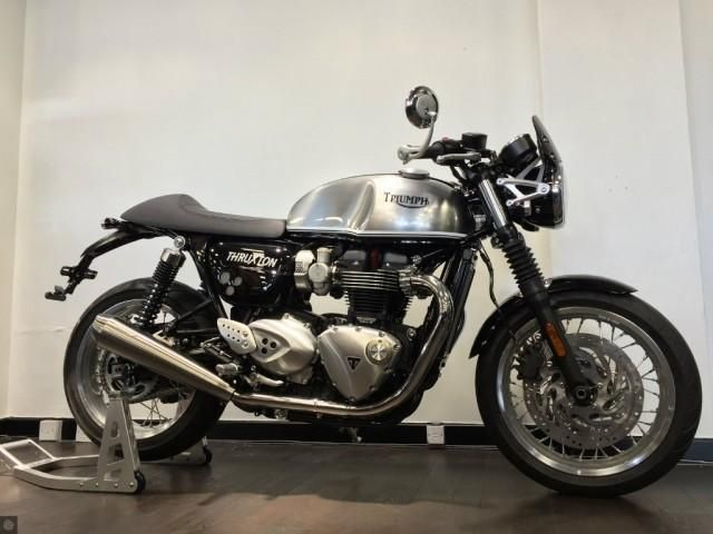 TRIUMPH THRUXTON 1200 SPECIAL, ND NEW + UNREGISTERED, BRUSHED ...