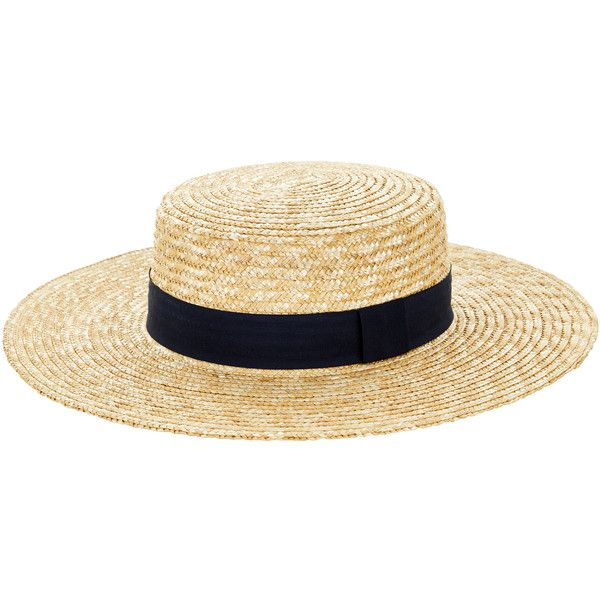 860827d7 Accessorize Straw Boater Hat (243.090 IDR) ❤ liked on Polyvore featuring  accessories, hats, wide brim straw hat, straw hat, wide brim hat, crown hat  and ...