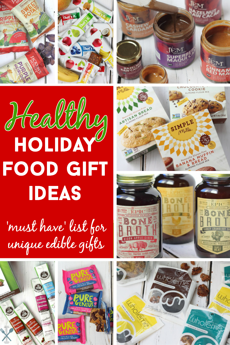 healthy and unique holiday food gifts | gluten free vegan, foodies
