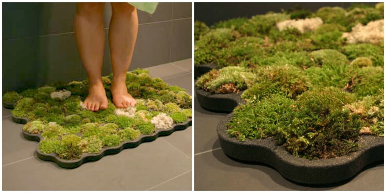 Moss bath mat- Nature in your bathroom. Plus, you never have to wash it.
