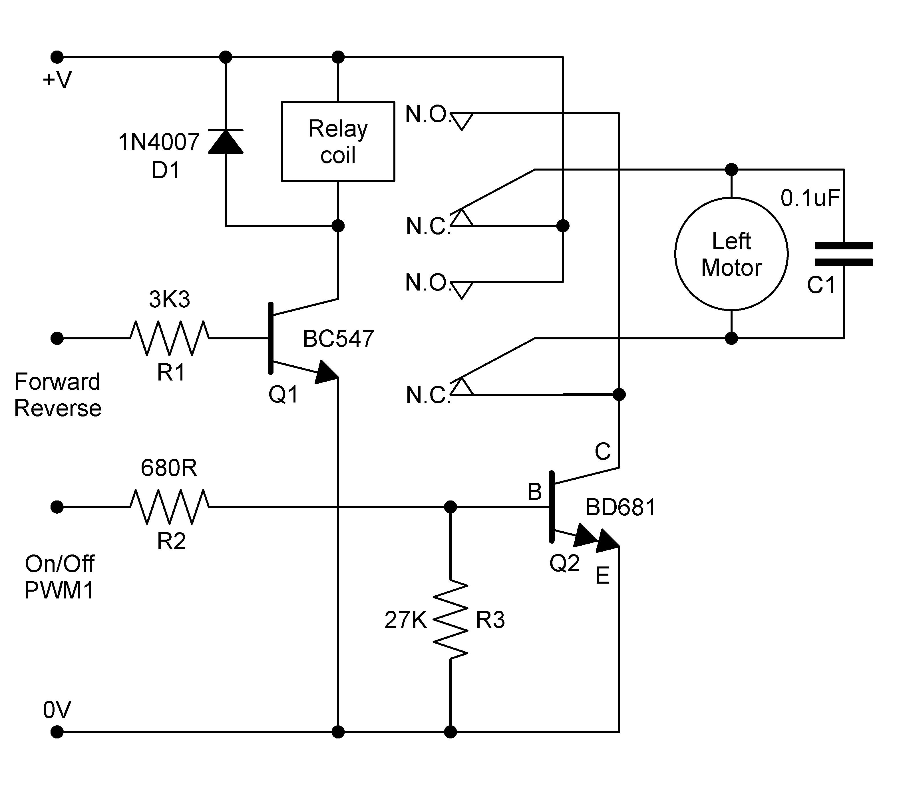bridge relay circuit diagram [ 3156 x 2762 Pixel ]
