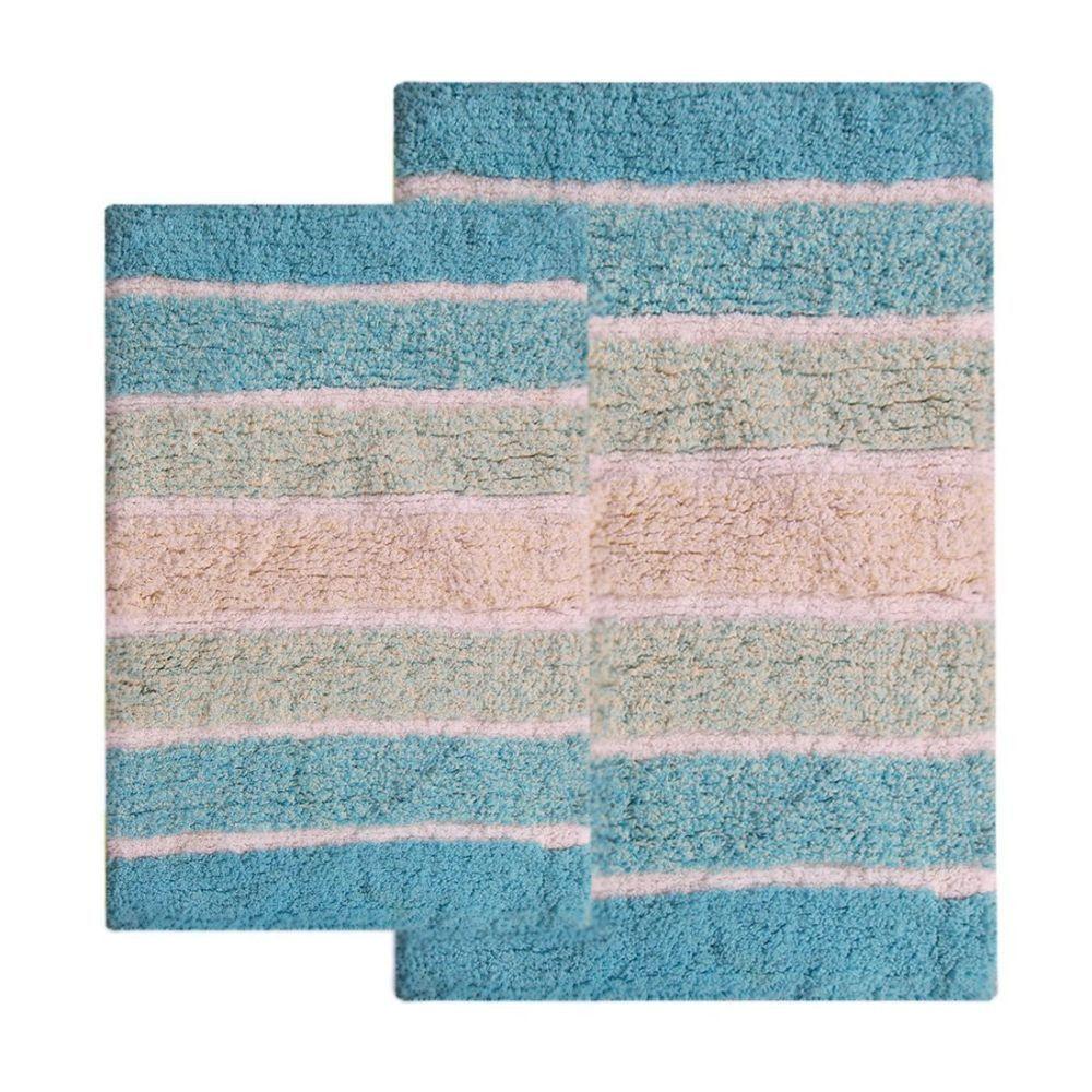 Benzara Chb003 4 Cordural Mixed Bath Mat Set Of 2 Bathroom Rug Sets Striped Bath Rug Bath Rugs Sets [ 1000 x 1000 Pixel ]