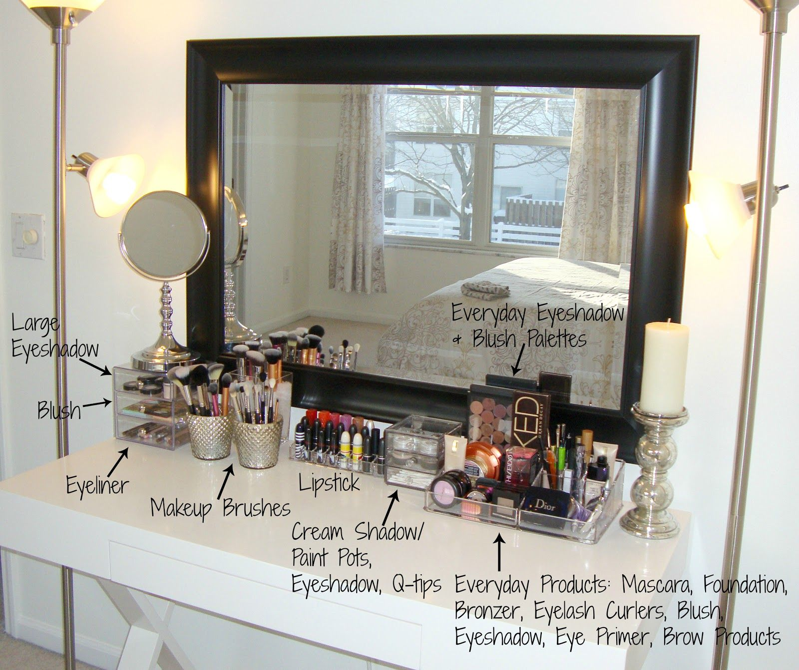 Bathroom makeup organizers - Large Acrylic Makeup Organizer