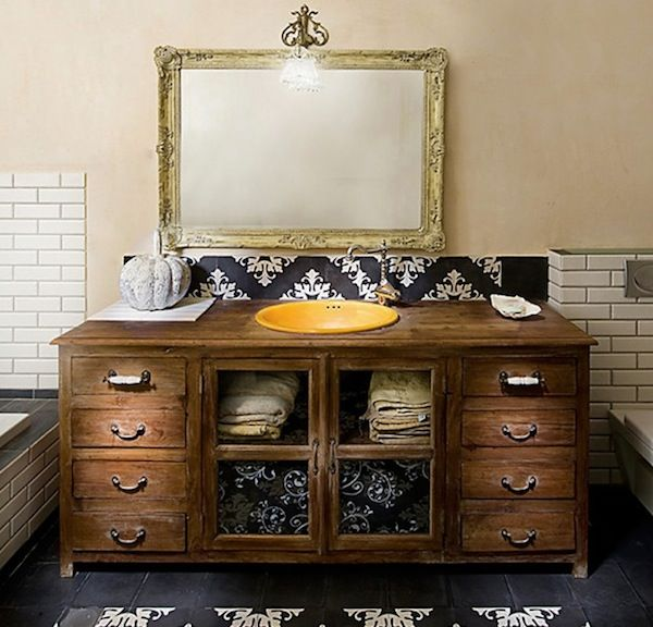 Affordable Repurposed Furniture To Outfit Your New Apartment Bathroom Vanity Designs Bathroom Vanity Decor Rustic Bathroom Vanities