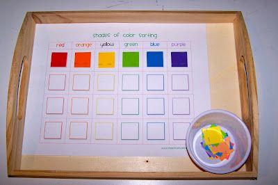 Rainbow Fish Trays Montessori Activities Preschool Colors Rainbow Fish