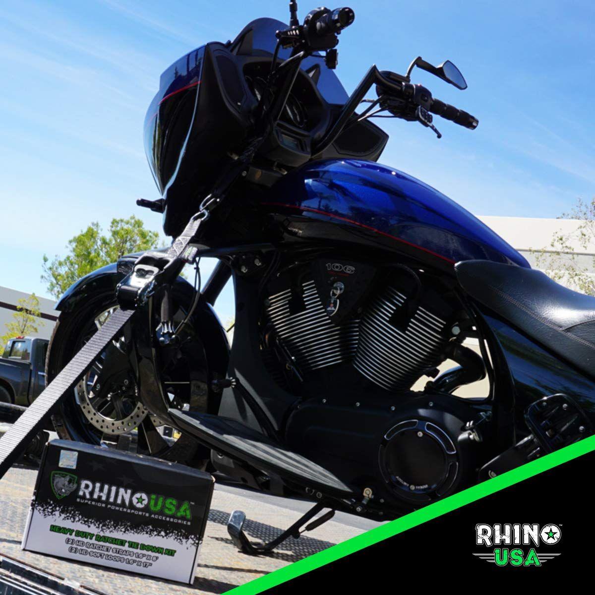 RHINO USA Ratchet Straps Motorcycle Tie Down Kit, 5,208