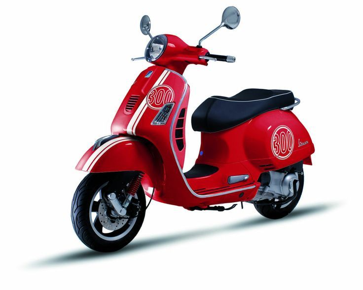 genuine piaggio vespa gt / gts / super complete '300' red decal