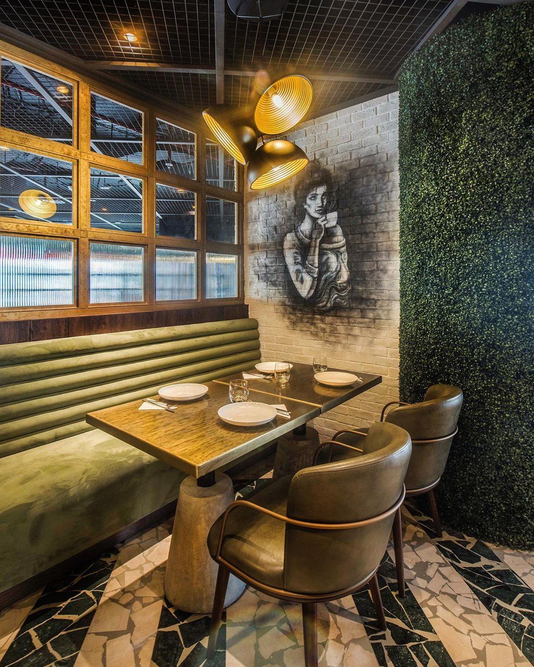 Charcoal Garden Restaurant Interior Design Concepts Interior Design Dubai Restaurant Interior