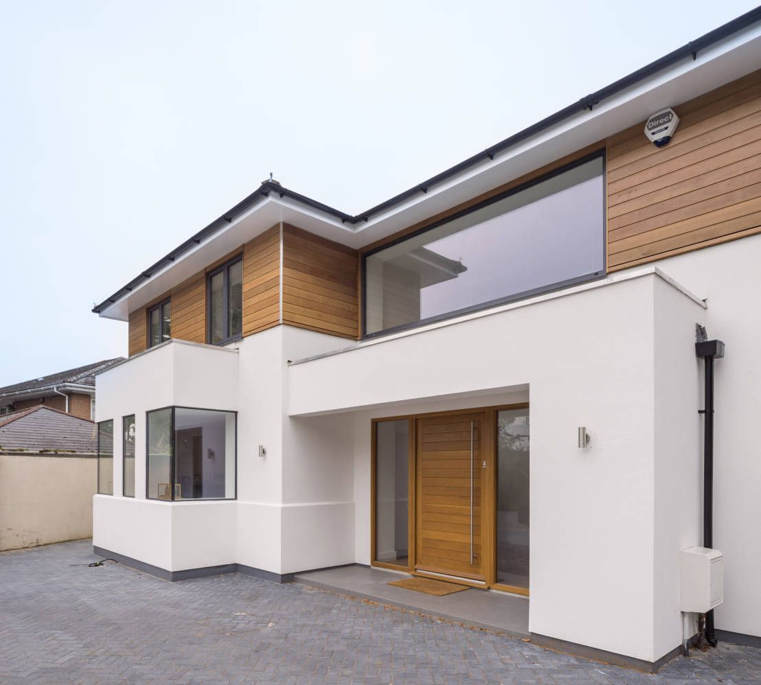 Haus mit besonderem stilmix hausideen pinterest haus for Minimalistisches haus grundriss