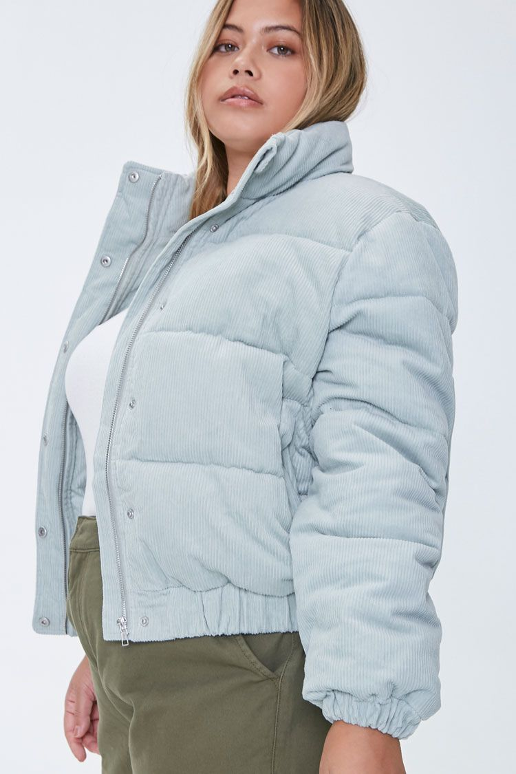 Plus Size Corduroy Puffer Jacket Forever 21 In 2021 Corduroy Puffer Jacket Puffer Jackets Jackets [ 1125 x 750 Pixel ]