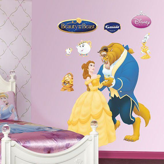 Disney Beauty And The Beast Wall Sticker   Wall Sticker Outlet