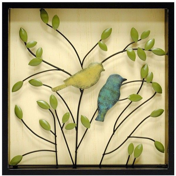 New View Metal Birds Wall Decor ($20) ❤ liked on Polyvore featuring ...