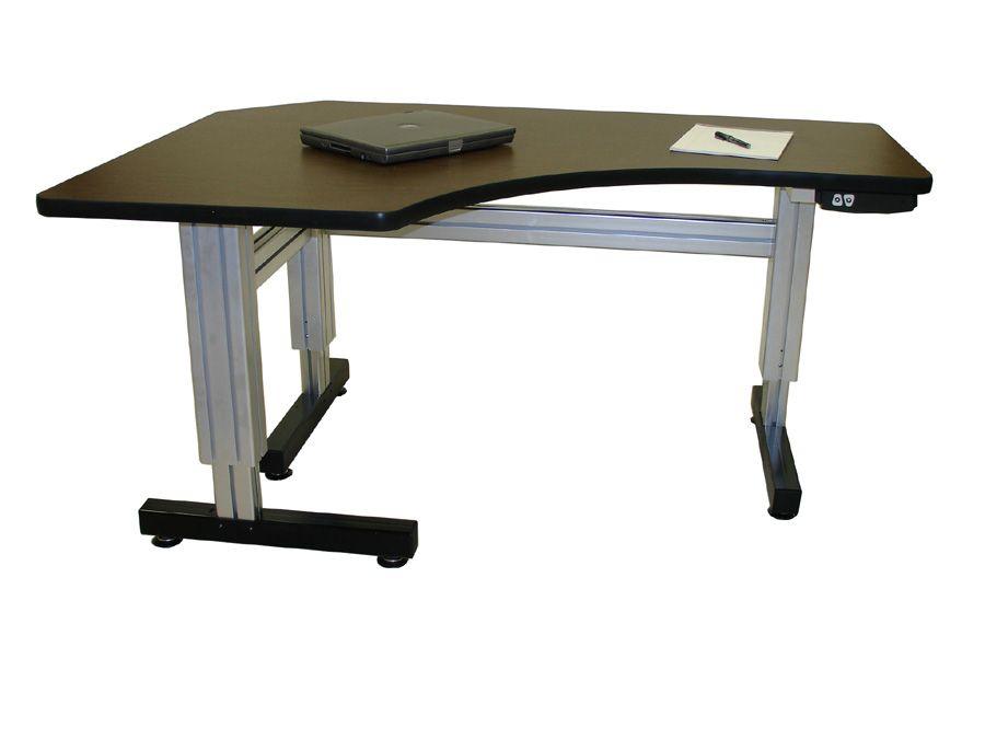 L Shaped Corner Electric Adjustable Height Desk Adjustable