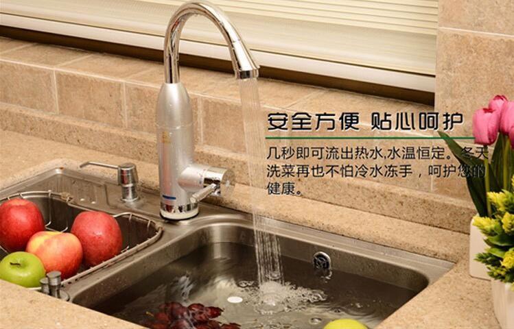 220 V 3000 W De Luxe Sans Reservoir Chauffe Eau Electrique Robinet Electric Water Heater Faucet Water Heater