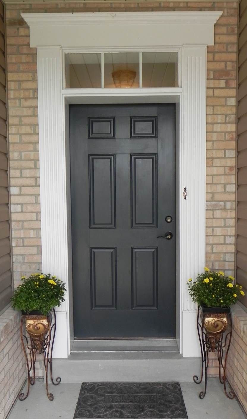 Front Door Colors For Tan House Black Shutters