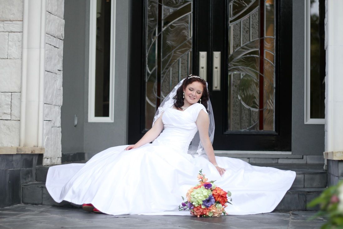 Beautiful modest wedding dress by Esila Bridal | Houston, TX. Love ...