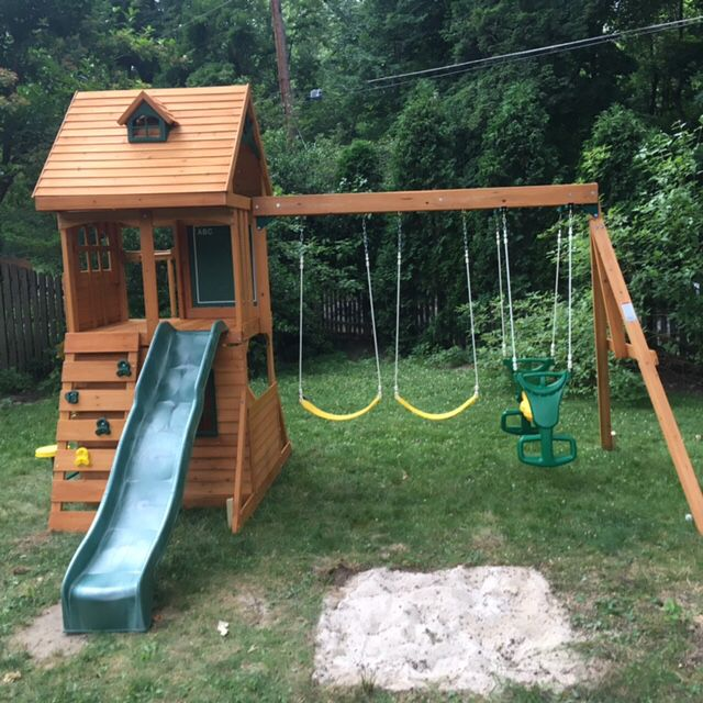 Charmant Painted Wooden Swing Set. See More. 6/27 Big Backyard Ridgeview Deluxe  Assembled In Jenkintown, PA