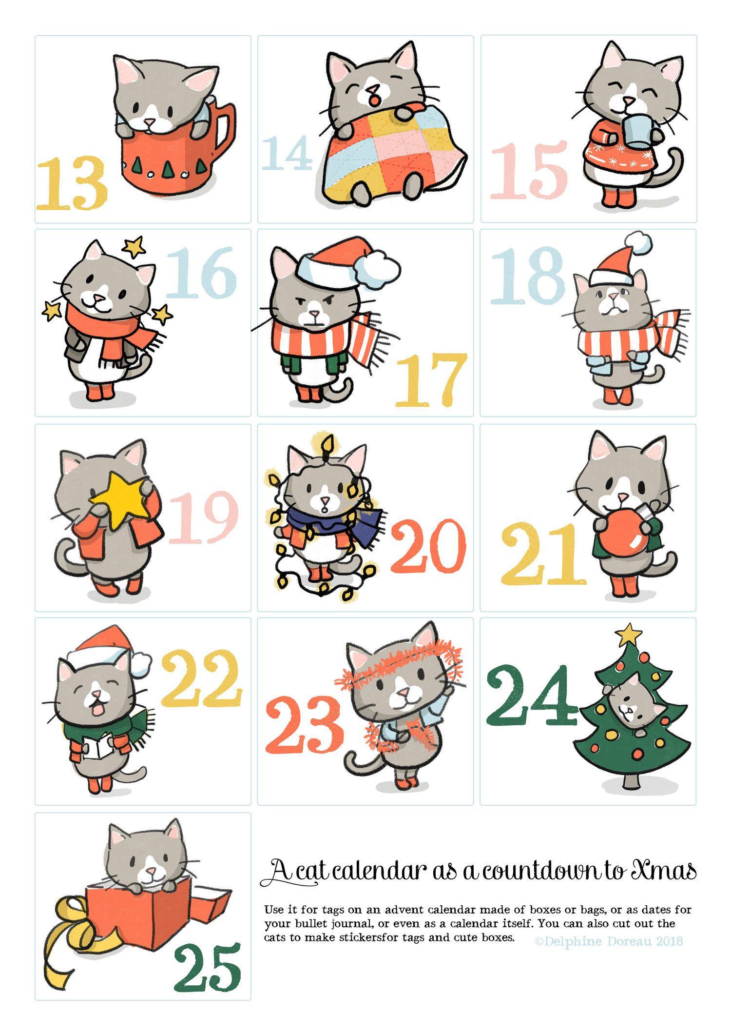 Les Petits Chats De L Avent Le Lapin Dans La Lune Petit Chat Chat Lapin