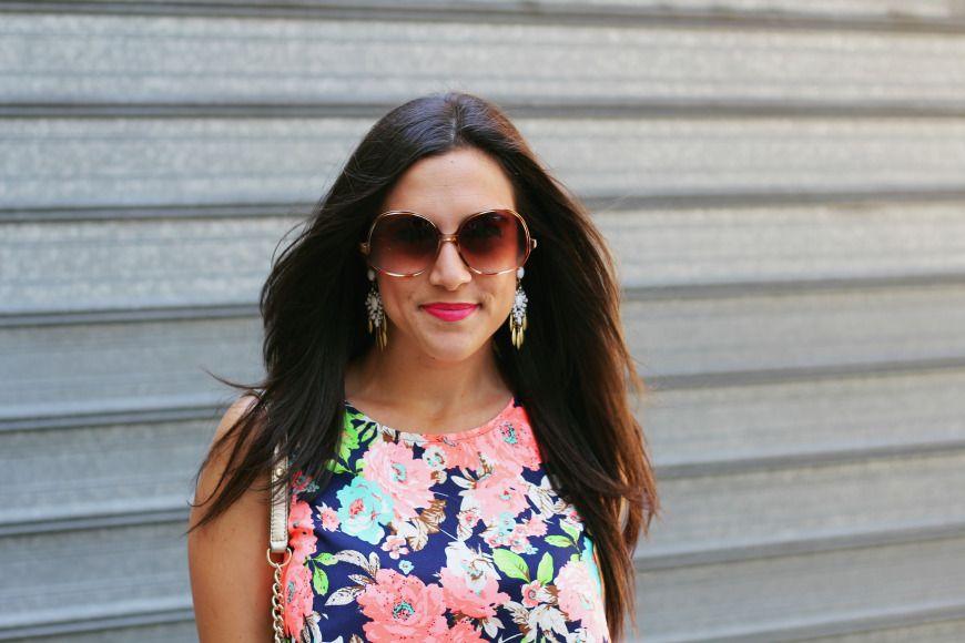 Stella & Dot Earrings - MAC Impassioned Lip - Vintage Sunnies - - Irresistible Me Hair Extensions