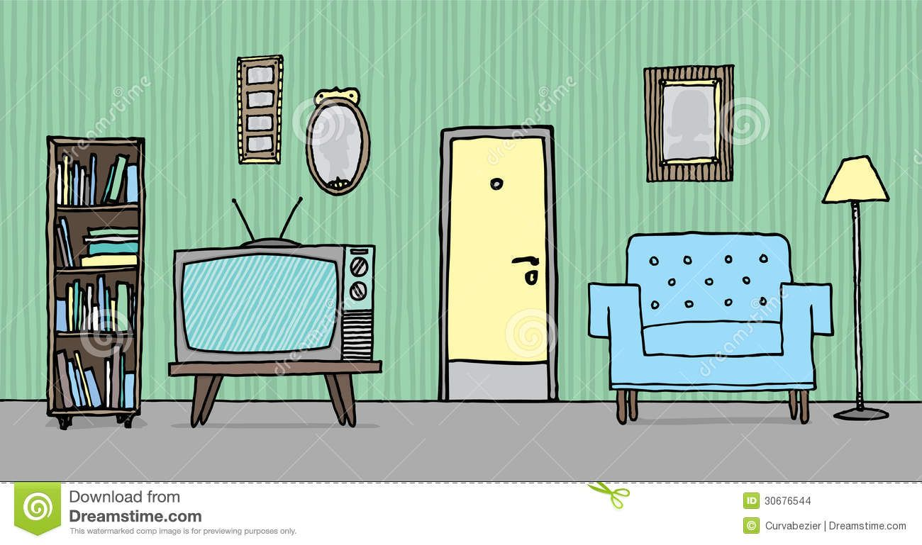 Inside of a house clipart