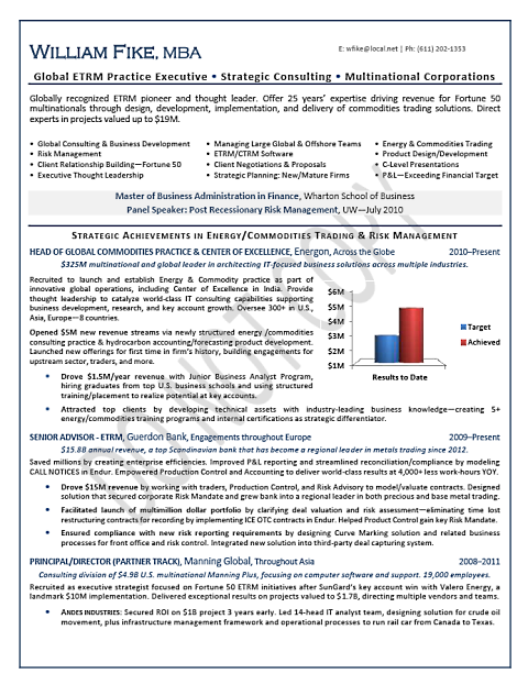 Global Executive - MNC, Energy, Trading, Page 1 | Resume Samples ...