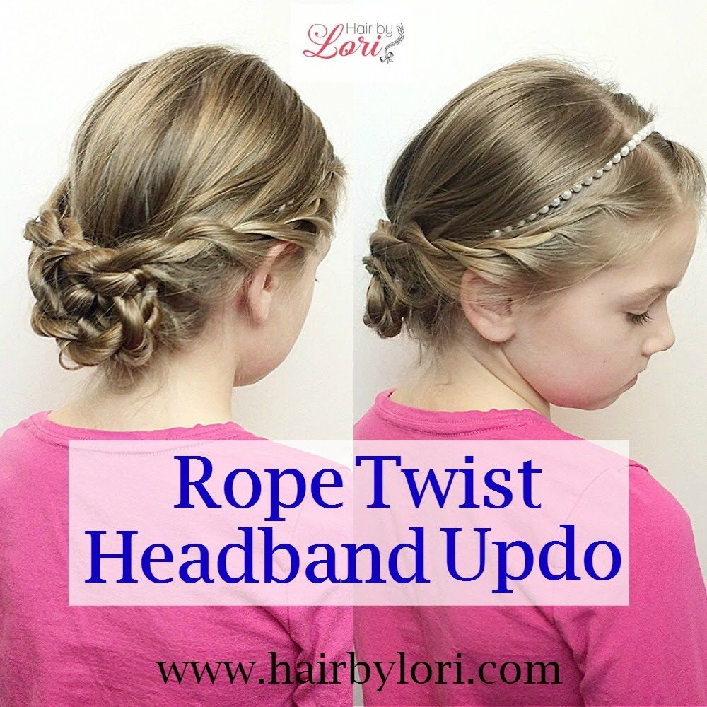 Rope Twist Headband Updo Toddler S Hair Style In 2019