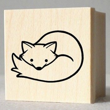 Rubber Stamp Arctic Fox Fox Art Arctic Fox Fox Tattoo