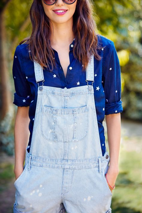 b77087ec84f2 Overalls are officially back in style and we couldn t be happier. These Old  Navy Railroad-Stripe Shortalls are exactly what you need to stay on trend  this ...