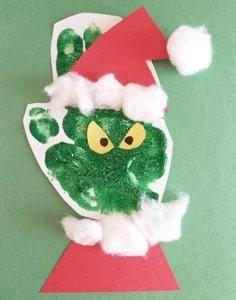 grinch handprint craft - Google Search
