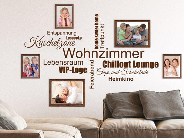 Wandtattoos Mit Bilderrahmen Kombiniert Bilderrahmen Wandtattoos - Wandtattoos für wohnzimmer