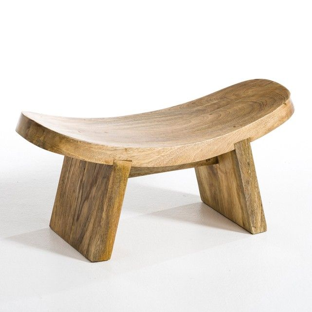 FUYAKA Low Mango Yoga Stool is part of Stool - FUYAKA Low Mango Yoga Stool  AM PM  Ideal for meditating, yoga or just relaxing, we love the natural shape of this solid mango stool  Taller stool available online Product Details•