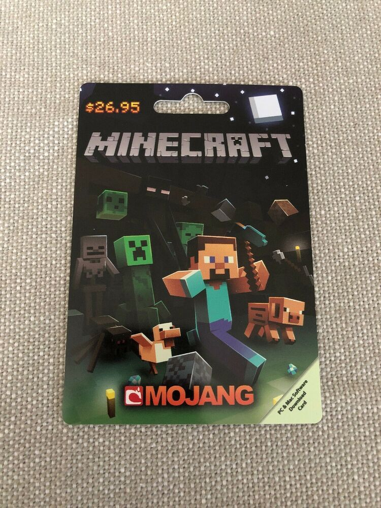 Minecraft Gift Card 26 95 Value Java Edition With Windows 10 Pc Minecraft Playing Game Minecraft Gifts Card Games For Kids Minecraft