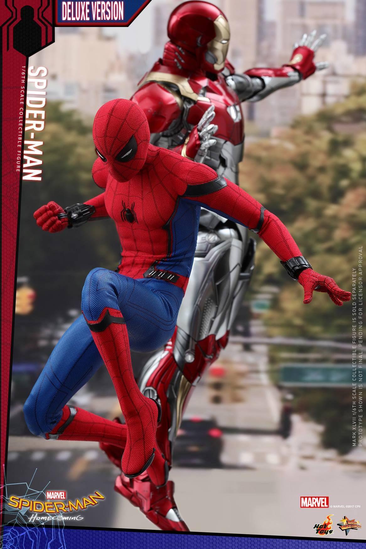 6/'/' Marvel Iron Armor Spider-Man Spiderman Hero Action Figure Collection