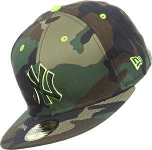 New Era Camo Pop Ny Yankees Cap Camo New York Graffiti Kinder Schuhe