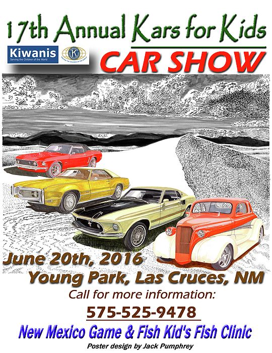 kiwanis club 17th annual kars for kids event poster car club event posters charity