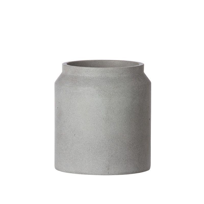 Beton übertopf übertopf vase beton pot light grey klein ferm living 36 00