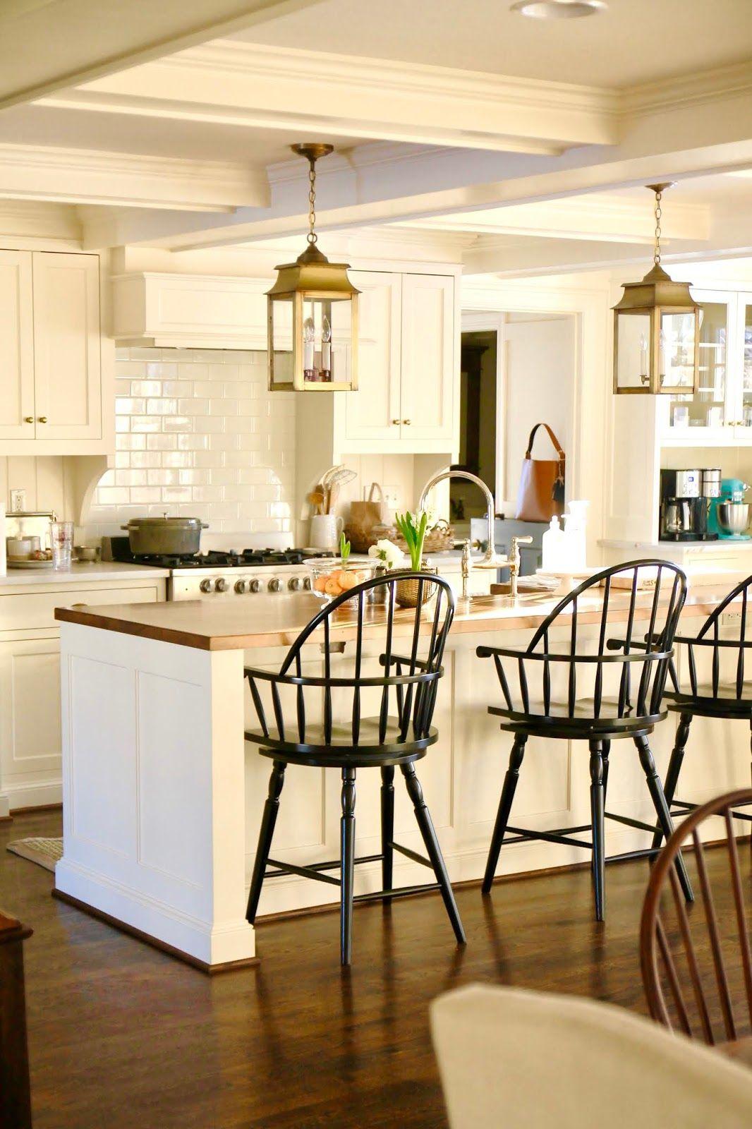 Jenny Steffens Hobick Benjamin Moore Navajo White Satin Classic Kitchens Kitchen Beautiful Kitchens