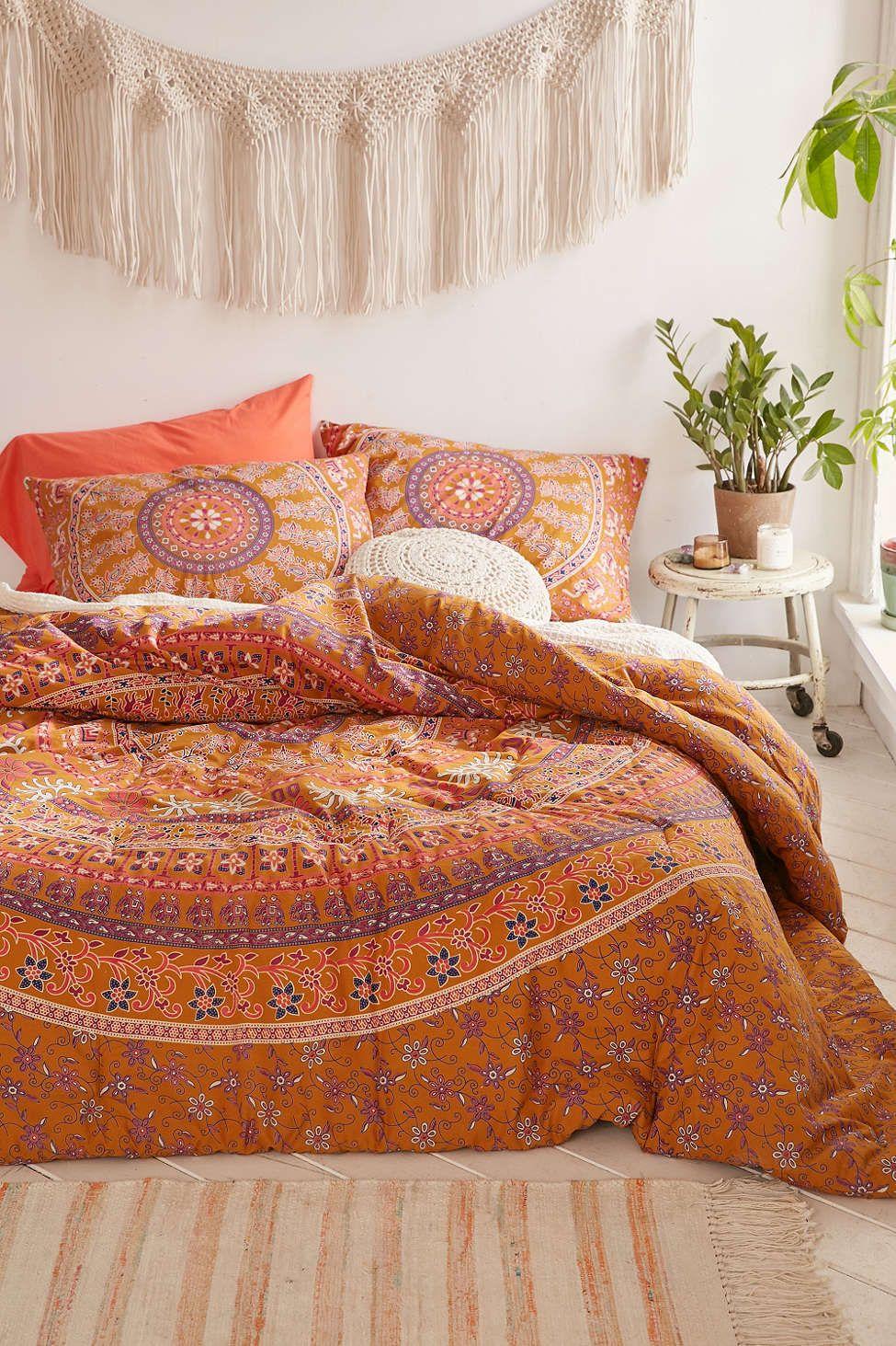 Jiya Medallion Sham Set Boho Comforters Bed Comforter