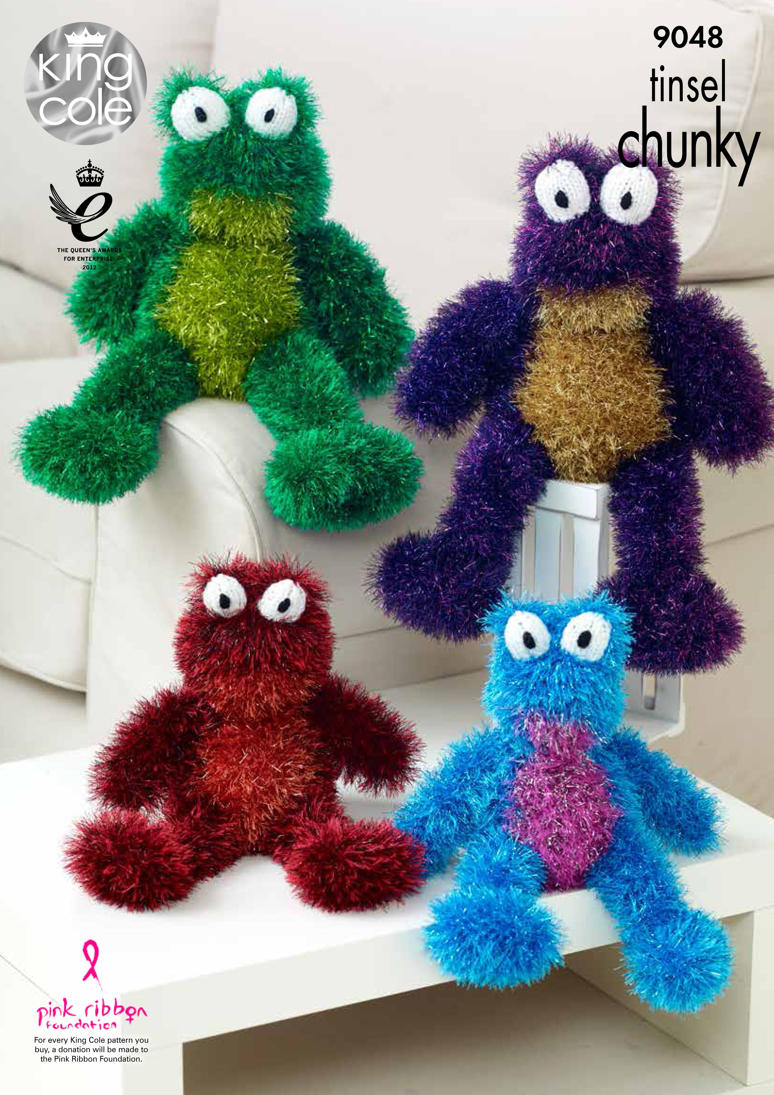 Knitted tinsel frogs king cole free knitting pinterest knitted tinsel frogs king cole bankloansurffo Images