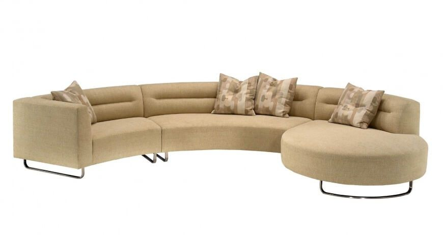 25 Contemporary Curved and Round Sectional Sofas Curves, Brown