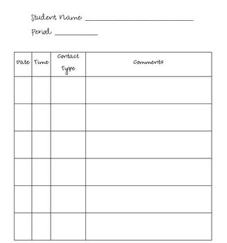 Pa Contact Log Free Template Case Manager Schools First