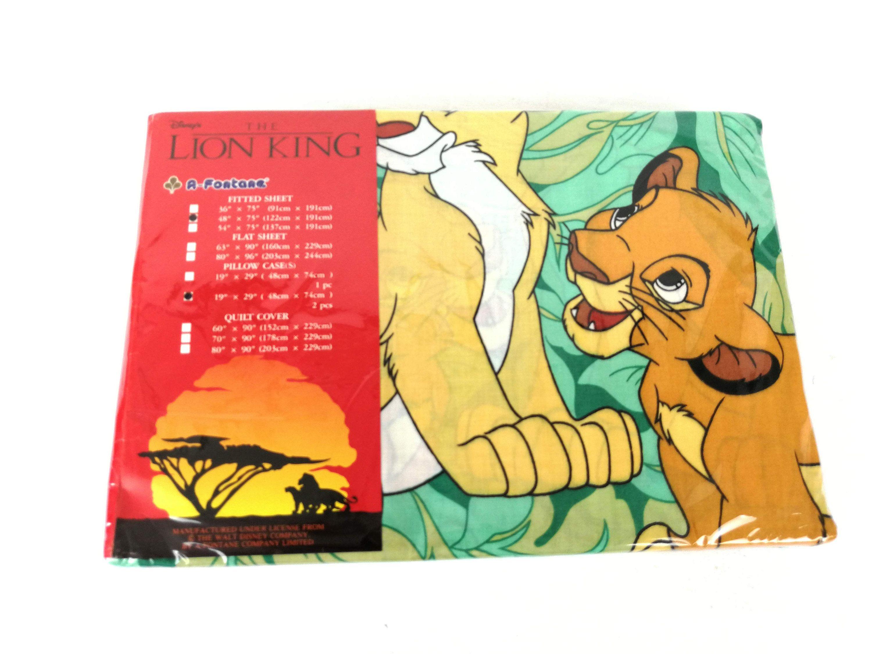 Disney Lion King Sheet Full 3/4 Bed Size Bottom 2 Pillow