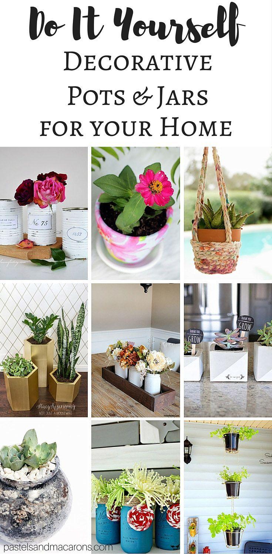 DIY Plant Pots And Decorative Jars + The Creative Corner Link Up ...