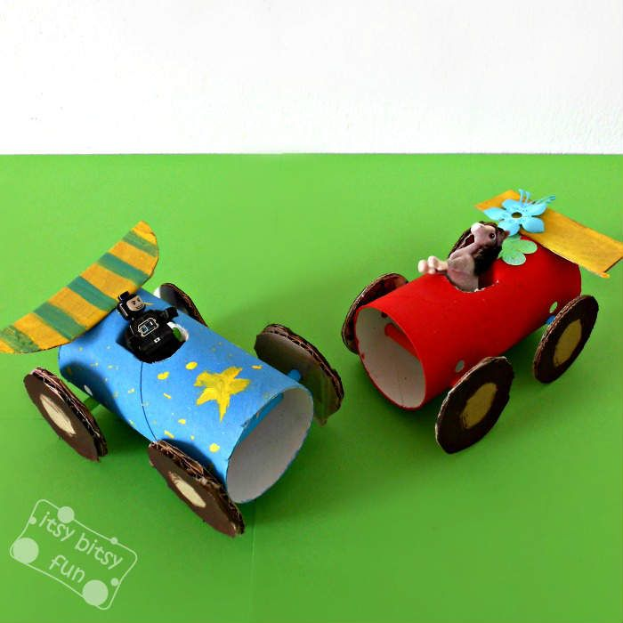 Toddler Crafts With Paper Towel Rolls: Toilet Paper Roll Cars